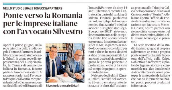 Ponte  da Trieste verso la Romania per le imprese italiane